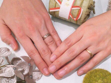 輝彩の結婚指輪をご成約頂きました(大阪府泉南郡熊取町 泉佐野市)