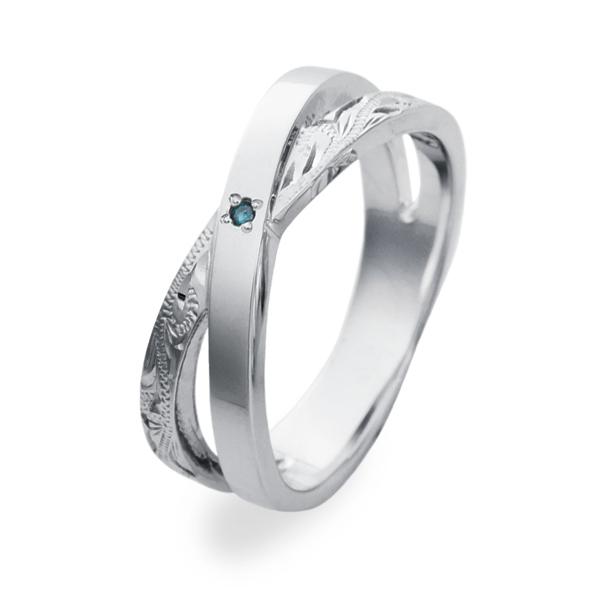 クロスリングブルーダイヤモンド