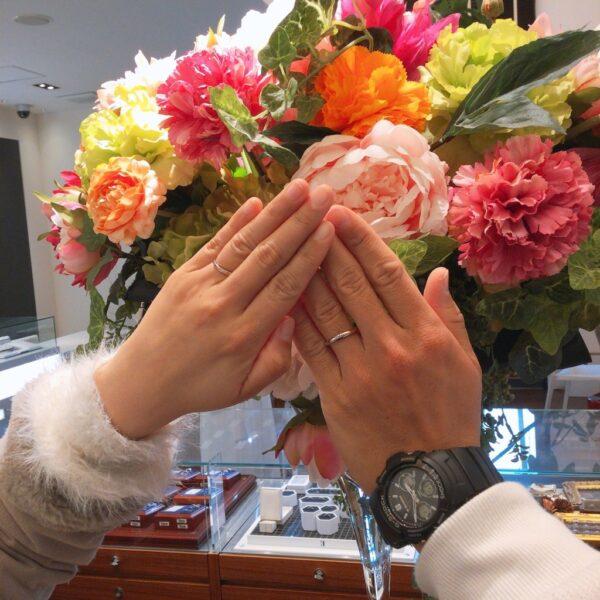 岸和田市ひなの婚約指輪結婚指輪