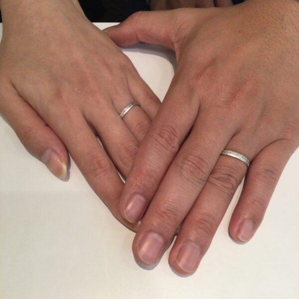 ゲスナーの結婚指輪をご成約頂きました。(大阪府堺市南区)
