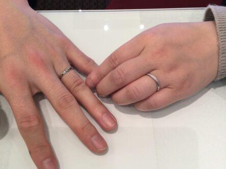 エトルの結婚指輪をご成約頂きました。(大阪市平野区)