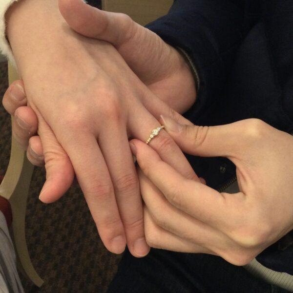 YUKAHOJOの婚約指輪をご成約頂きました。(大阪府岸和田市)