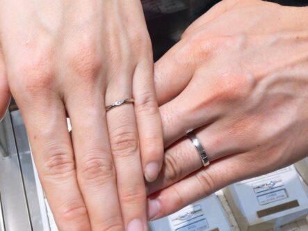 ミルク&ストロベリーとアムールアミュレットの結婚指輪をご成約頂きました。(大阪府岸和田市)