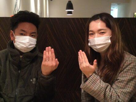 フィッシャーの結婚指輪をご成約頂きました(大阪府堺市西区)