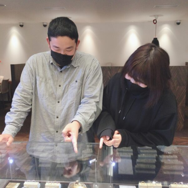 グラマの結婚指輪をご成約頂きました(大阪府堺市堺区)