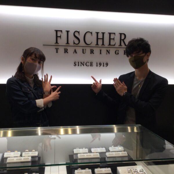 フィッシャーの結婚指輪をご成約頂きました(大阪府堺市堺区)