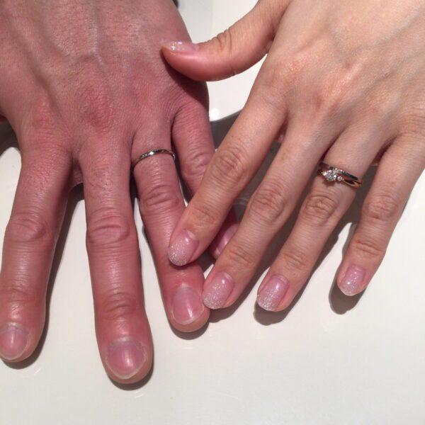 リトルガーデンの結婚指輪をご成約頂きました。(大阪府岸和田市)