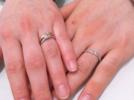 マリアージュエントの婚約指輪とハートアイランドの結婚指輪をご成約頂きました。(大阪府岸和田市)
