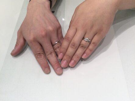 ロゼットの婚約指輪と結婚指輪をご成約頂きました(大阪府泉南市)