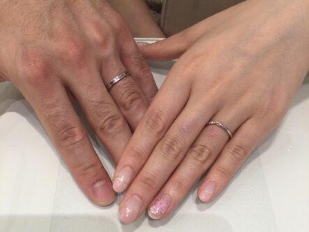 ミルク&ストロベリーの結婚指輪をご成約頂きました(三重県伊賀県)