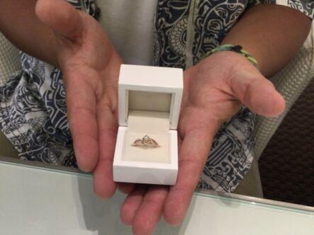 マカナの婚約指輪をご成約頂きました(大阪府堺市中区)