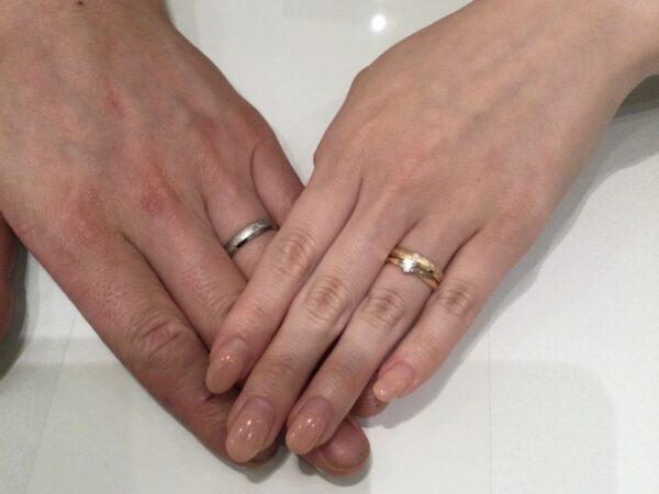 アムールアミュレットの婚約指輪とフィッシャーの結婚指輪をご成約頂きました(大阪府河内長野市)