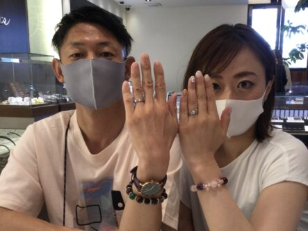 アムールアミュレットの婚約指輪と結婚指輪をご成約頂きました(大阪府岸和田市)