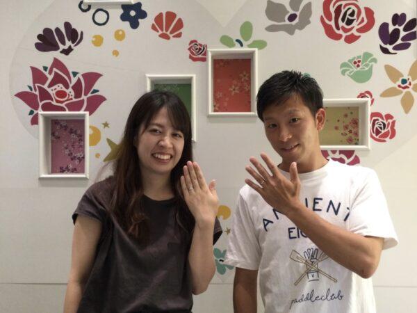ラパージュの婚約指輪とフィッシャーの結婚指輪をご成約頂きました(大阪府泉大津市)