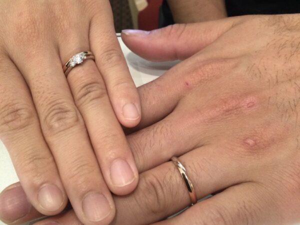 gardenオリジナル婚約指輪とプリートの結婚指輪をご成約頂きました(大阪府泉南市)