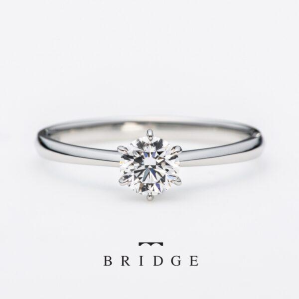 ブリッジ一輪の薔薇婚約指輪ならgarden本店