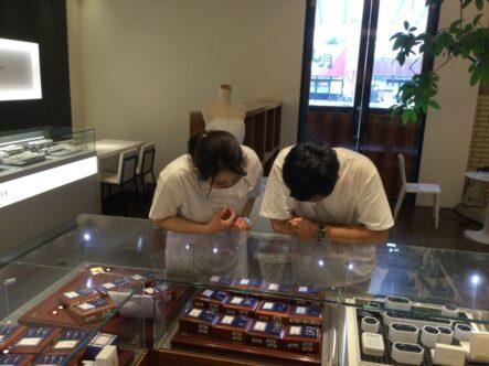 ロゼットの婚約指輪とフィッシャーの結婚指輪をご成約頂きました(大阪府泉南郡熊取町)
