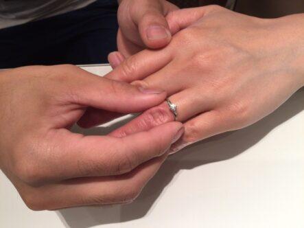 ガーデンオリジナル婚約指輪をご成約頂きました(大阪府堺市西区)