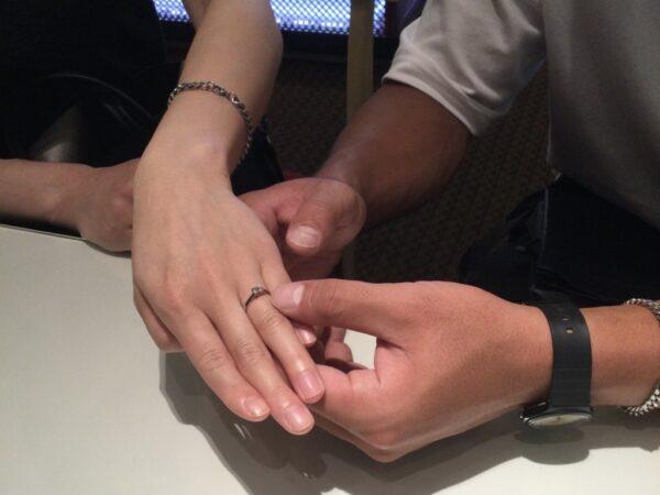 オレッキオの婚約指輪をご成約頂きました(大阪府貝塚市 岸和田市です。)