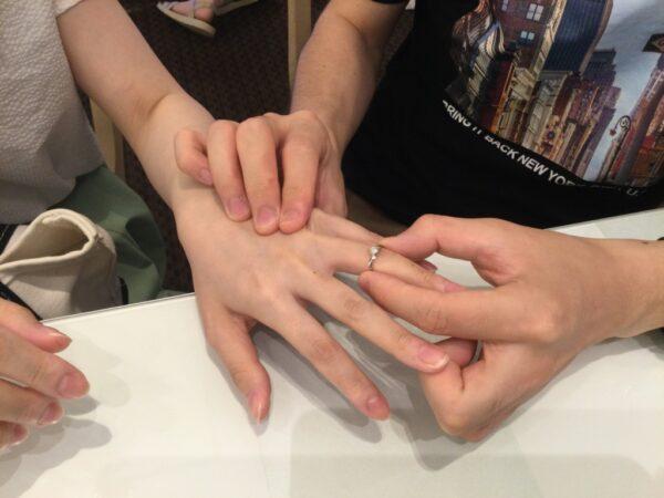 ラパージュの婚約指輪をご成約頂きました(大阪府堺市 枚方市)