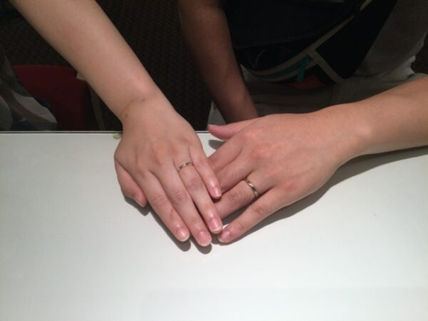 アムールアミュレットの結婚指輪をご成約頂きました(岸和田市)