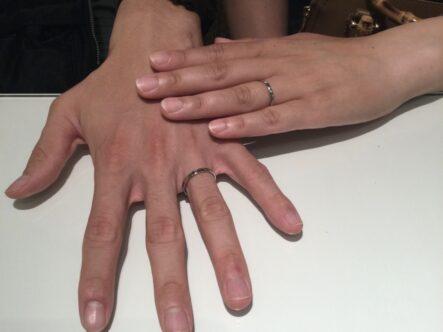 フィッシャーの結婚指輪をご成約頂きました(大阪府堺市北区)