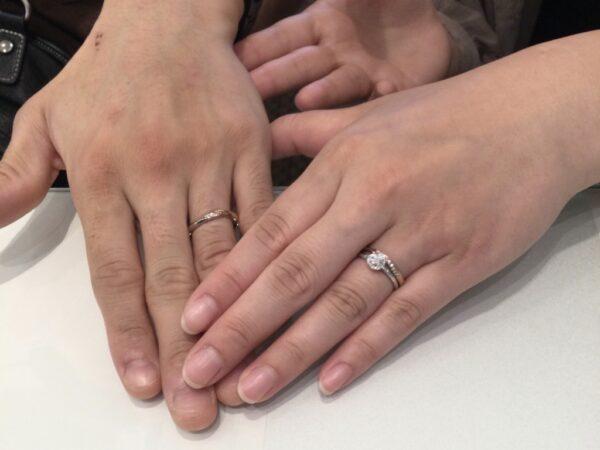 gardenオリジナルの婚約指輪とアムールアミュレットの結婚指輪をご成約頂きました(和歌山県岩出市 大阪府守口市)