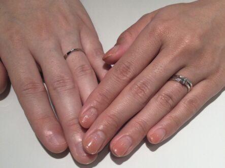 ガーデンオリジナルの婚約指輪とノクルとロゼットの結婚指輪をご成約頂きます(大阪府泉北郡忠岡町 柏原市)