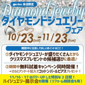 ダイヤモンドジュエリーフェア10/23(土)~11/23(火)