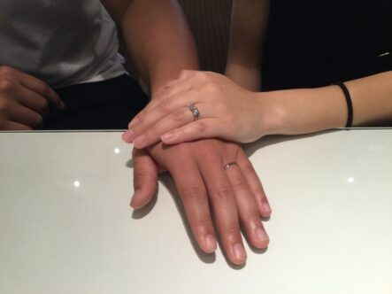 ひなの婚約指輪とロゼットSPの結婚指輪をお選びいただきました(大阪府堺市北区)
