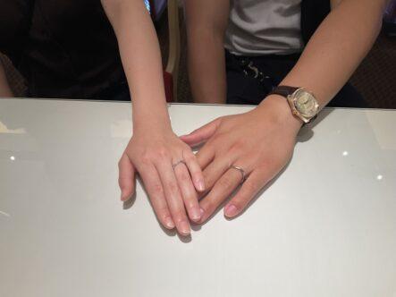 マリアージュエントの結婚指輪をご成約頂きました(大阪市住吉区)