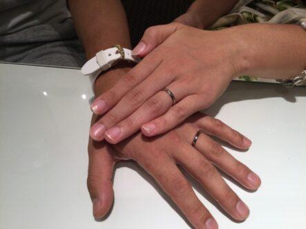 フィッシャーの結婚指輪をご成約頂きました(大阪市生野区)