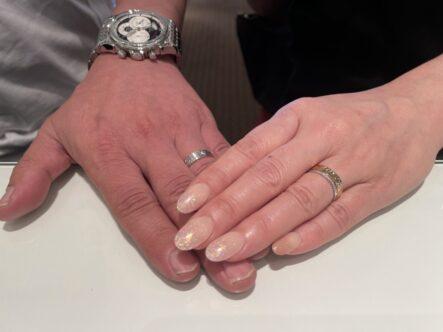 GRACE KAMAの婚約指輪と輝彩の結婚指輪をお選びいただきました。(大阪府豊中市)
