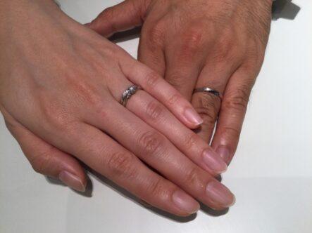gardenオリジナルの婚約指輪とRosettE SPの結婚指輪をお選びいただきました。(奈良県生駒市,大阪府堺市北区)